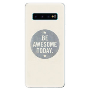 Silikonové odolné pouzdro iSaprio Awesome 02 na mobil Samsung Galaxy S10