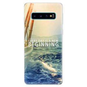 Silikonové odolné pouzdro iSaprio Beginning na mobil Samsung Galaxy S10