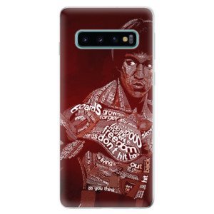 Silikonové odolné pouzdro iSaprio Bruce Lee na mobil Samsung Galaxy S10