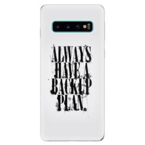 Silikonové odolné pouzdro iSaprio Backup Plan na mobil Samsung Galaxy S10