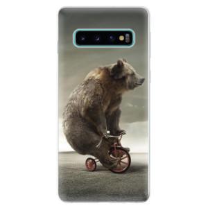 Silikonové odolné pouzdro iSaprio Medvěd 01 na mobil Samsung Galaxy S10