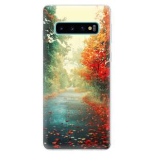 Silikonové odolné pouzdro iSaprio Podzim 03 na mobil Samsung Galaxy S10