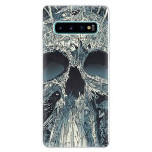 Silikonové odolné pouzdro iSaprio Abstract Skull na mobil Samsung Galaxy S10