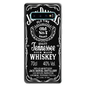 Silikonové odolné pouzdro iSaprio Jack Daniels na mobil Samsung Galaxy S10 - poslední kousek za tuto cenu