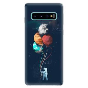 Silikonové odolné pouzdro iSaprio Balónky 02 na mobil Samsung Galaxy S10