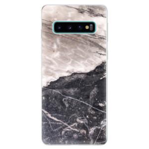 Silikonové odolné pouzdro iSaprio BW Mramor na mobil Samsung Galaxy S10