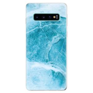 Silikonové odolné pouzdro iSaprio Blue Marble na mobil Samsung Galaxy S10