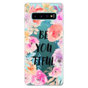 Silikonové odolné pouzdro iSaprio BeYouTiful na mobil Samsung Galaxy S10
