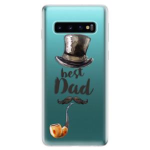 Silikonové odolné pouzdro iSaprio Best Dad na mobil Samsung Galaxy S10