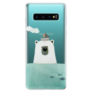 Silikonové odolné pouzdro iSaprio Medvěd s Lodí na mobil Samsung Galaxy S10