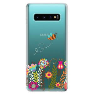 Silikonové odolné pouzdro iSaprio Včelka Pája 01 na mobil Samsung Galaxy S10