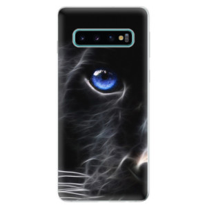 Silikonové odolné pouzdro iSaprio Black Puma na mobil Samsung Galaxy S10