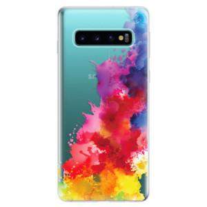 Silikonové odolné pouzdro iSaprio Color Splash 01 na mobil Samsung Galaxy S10
