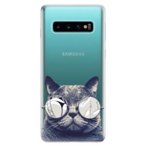 Silikonové odolné pouzdro iSaprio Šílená Číča 01 na mobil Samsung Galaxy S10
