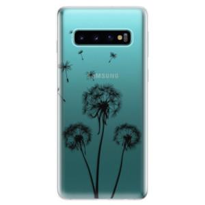 Silikonové odolné pouzdro iSaprio Tři Černé Pampelišky na mobil Samsung Galaxy S10
