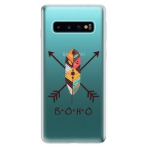 Silikonové odolné pouzdro iSaprio BOHO na mobil Samsung Galaxy S10
