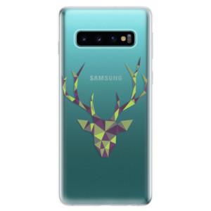 Silikonové odolné pouzdro iSaprio Zelený Jelínek na mobil Samsung Galaxy S10