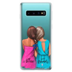 Silikonové odolné pouzdro iSaprio Best Friends na mobil Samsung Galaxy S10