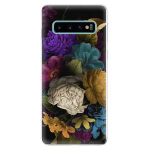 Silikonové odolné pouzdro iSaprio Temné Květy na mobil Samsung Galaxy S10