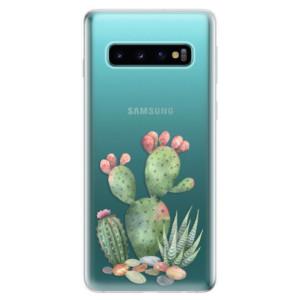 Silikonové odolné pouzdro iSaprio Kaktusy 01 na mobil Samsung Galaxy S10
