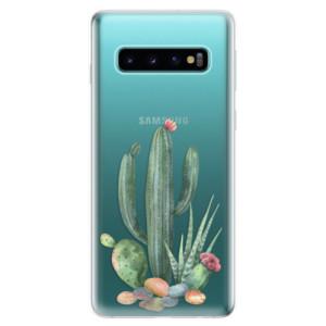 Silikonové odolné pouzdro iSaprio Kaktusy 02 na mobil Samsung Galaxy S10