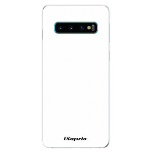 Silikonové odolné pouzdro iSaprio 4Pure bílé na mobil Samsung Galaxy S10