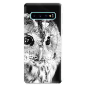 Silikonové odolné pouzdro iSaprio BW Sova na mobil Samsung Galaxy S10