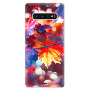 Silikonové odolné pouzdro iSaprio Lístky na Podzim 02 na mobil Samsung Galaxy S10 Plus