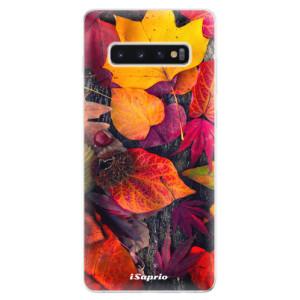 Silikonové odolné pouzdro iSaprio Popadané Lístky 03 na mobil Samsung Galaxy S10 Plus
