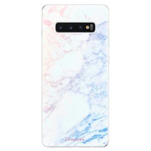 Silikonové odolné pouzdro iSaprio Duhový Mramor 10 na mobil Samsung Galaxy S10 Plus