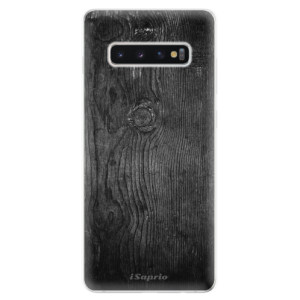 Silikonové odolné pouzdro iSaprio Black Wood 13 na mobil Samsung Galaxy S10 Plus