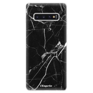 Silikonové odolné pouzdro iSaprio Black Marble 18 na mobil Samsung Galaxy S10 Plus