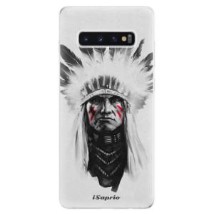 Silikonové odolné pouzdro iSaprio Indián 01 na mobil Samsung Galaxy S10 Plus