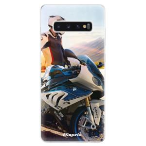 Silikonové odolné pouzdro iSaprio Motorka 10 na mobil Samsung Galaxy S10 Plus - poslední kus za tuto cenu
