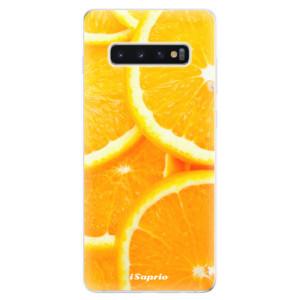 Silikonové odolné pouzdro iSaprio Pomeranče na mobil Samsung Galaxy S10 Plus