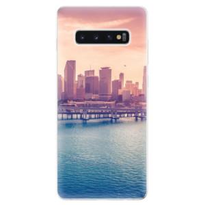 Silikonové odolné pouzdro iSaprio Město po Ránu na mobil Samsung Galaxy S10 Plus