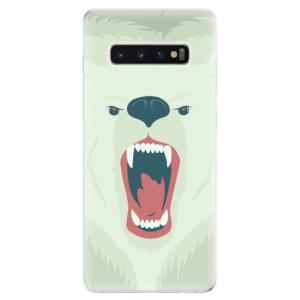 Silikonové odolné pouzdro iSaprio Naštvanej Medvěd na mobil Samsung Galaxy S10 Plus