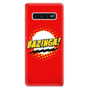 Silikonové odolné pouzdro iSaprio Bazinga 01 na mobil Samsung Galaxy S10 Plus