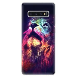 Silikonové odolné pouzdro iSaprio Barevný Lev na mobil Samsung Galaxy S10 Plus