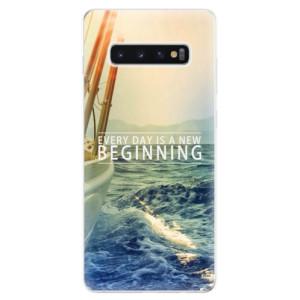 Silikonové odolné pouzdro iSaprio Beginning na mobil Samsung Galaxy S10 Plus
