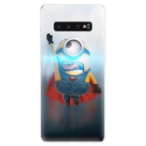 Silikonové odolné pouzdro iSaprio Mimoň Superman 02 na mobil Samsung Galaxy S10 Plus