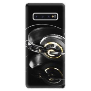 Silikonové odolné pouzdro iSaprio Sluchátka 02 na mobil Samsung Galaxy S10 Plus