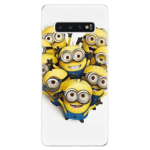 Silikonové odolné pouzdro iSaprio Mimoni 01 na mobil Samsung Galaxy S10 Plus