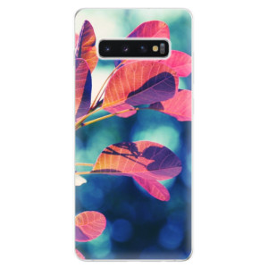 Silikonové odolné pouzdro iSaprio Podzim 01 na mobil Samsung Galaxy S10 Plus