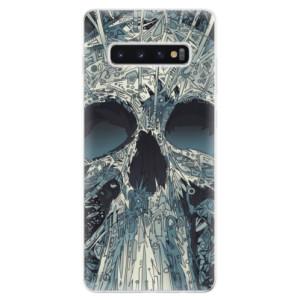 Silikonové odolné pouzdro iSaprio Abstract Skull na mobil Samsung Galaxy S10 Plus