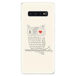 Silikonové odolné pouzdro iSaprio Sova Love na mobil Samsung Galaxy S10 Plus