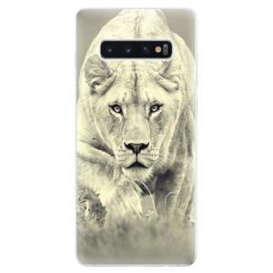 Silikonové odolné pouzdro iSaprio Lvice 01 na mobil Samsung Galaxy S10 Plus