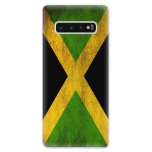 Silikonové odolné pouzdro iSaprio Vlajka Jamajka na mobil Samsung Galaxy S10 Plus