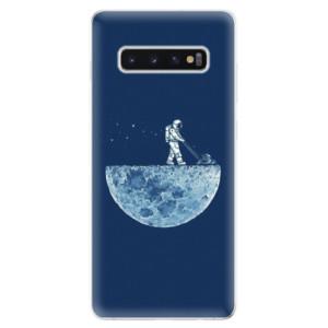 Silikonové odolné pouzdro iSaprio Měsíc 01 na mobil Samsung Galaxy S10 Plus