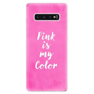 Silikonové odolné pouzdro iSaprio Pink is my color na mobil Samsung Galaxy S10 Plus